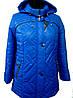 Женская куртка с капюшоном деми, 52-66 р-р