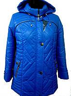 Женская куртка с капюшоном деми, 52-66 р-р, фото 1
