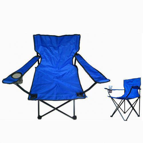 """Складной стул, кемпинговый, """"Паук"""", с подстаканником, цвет - синий"""