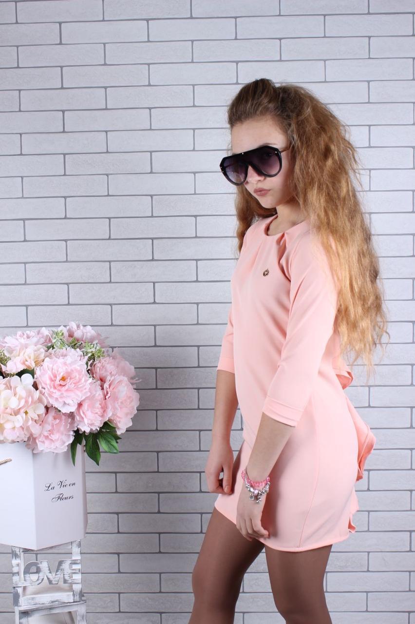 Платье нарядное для девочки р.134-164 опт персик