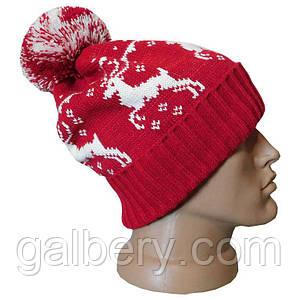 Зимняя шапка с норвежским орнаментом