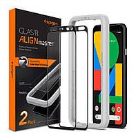 Защитное стекло Spigen для Google Pixel 4 XL (2019) Glas.tR AlignMaster (2 шт), Black (AGL00481)