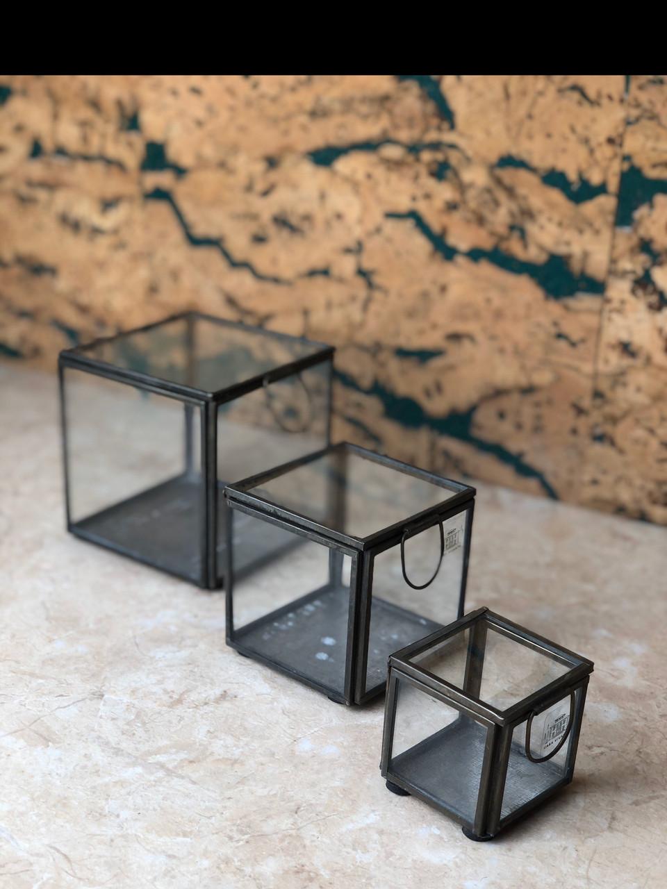 Набор металических стеклянных шкатулок