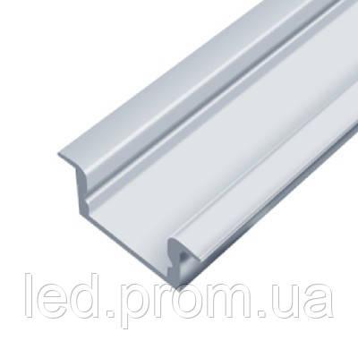 LED-профиль ЛПВ7е врезной анодированный эконом