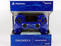 Беспроводной игровой джойстик, геймпад Dualshock PS4 контроллер для ПС4 вибро Синий