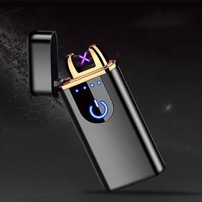 Зажигалка USB 750, Сенсорная USB зажигалка, фото 2