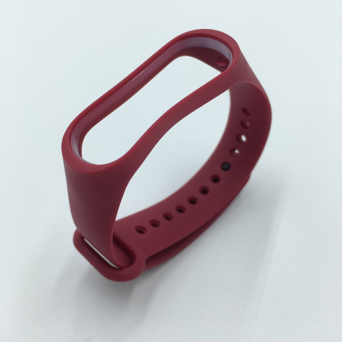 Ремешок Xiaomi Mi Band 4 / 3 MiJobs силиконовый Бордовый [1706]