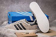 Кроссовки мужские 14134, Adidas Gazelle, серые ( 42  ), фото 4