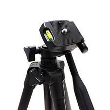 Штатив для фотоаппарата Tripod 3120 (высота 35-105 см) для экшн камер, смартфонов, телефонов и видеокамер, фото 2
