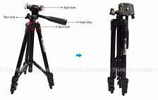 Штатив для фотоаппарата Tripod 3120 (высота 35-105 см) для экшн камер, смартфонов, телефонов и видеокамер, фото 3