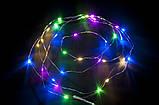 Гирлянда проволока (нить), светящееся украшение для праздника, 2м multicolor, фото 3