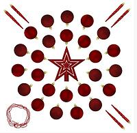 """Елочные шарики 33 шт., """"House of Seasons"""" комплект, микс оттенков красного"""