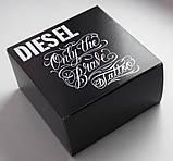 Мужской кожаный рыжий ремень Diesel для джинс, фото 5