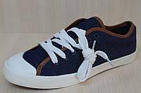 Джинсовые кеды подросток, спортивная стильная, удобная, текстильная обувь р.41