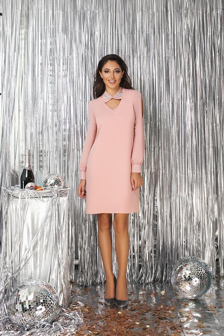"""Элегантное платье прямого кроя """"Донна"""" с разрезами на рукавах (2 цвета)"""