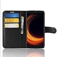 Чехол-книжка Litchie Wallet для Blackview A20 Pro Черный