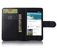 Чехол-книжка Litchie Wallet для Alcatel One Touch Pixi 3 4013D (4.0) Черный
