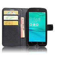 Чехол-книжка Litchie Wallet для Asus Zenfone Go ZB500KL Черный
