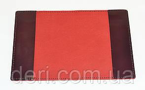 Кожаная обложка  бордовая (глянец), фото 2