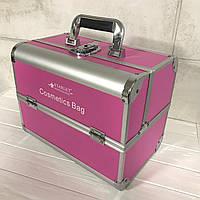 Кейс для косметики алюмінієвий Starlet (рожевий)