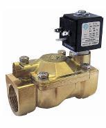 Электромагнитные клапаны для нефтепродуктов, воды, воздуха 21W4ZV250, G 1'. Нормально открытый.