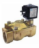 Электромагнитные клапаны для воды, воздуха 21W4ZB250, G 1'. Нормально открытый.