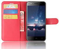 Чехол-книжка Litchie Wallet для Homtom HT37 / HT37 Pro Красный