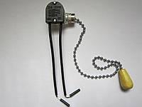 Выключатель с цепочкой цепочка 25 см белой, фото 1
