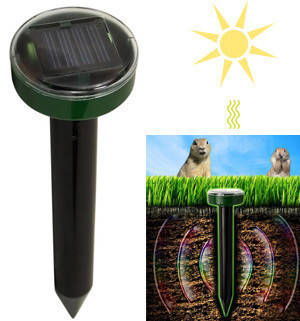 Отпугиватель грызунов и кротов Solar Rodent Repeller, фото 2