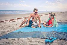Анти-песок Пляжная чудо подстилка коврик для моря Originalsize Sand Free Mat  покрывало антипесок 200 х 150 см, фото 3