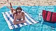 Анти-песок Пляжная чудо подстилка коврик для моря Originalsize Sand Free Mat  покрывало антипесок 200 х 150 см, фото 2