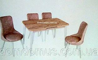 """Комплект обеденной мебели """"Sono"""" (стол 120*70 см + 4 стула овал мягкие) Mobilgen, Турция"""