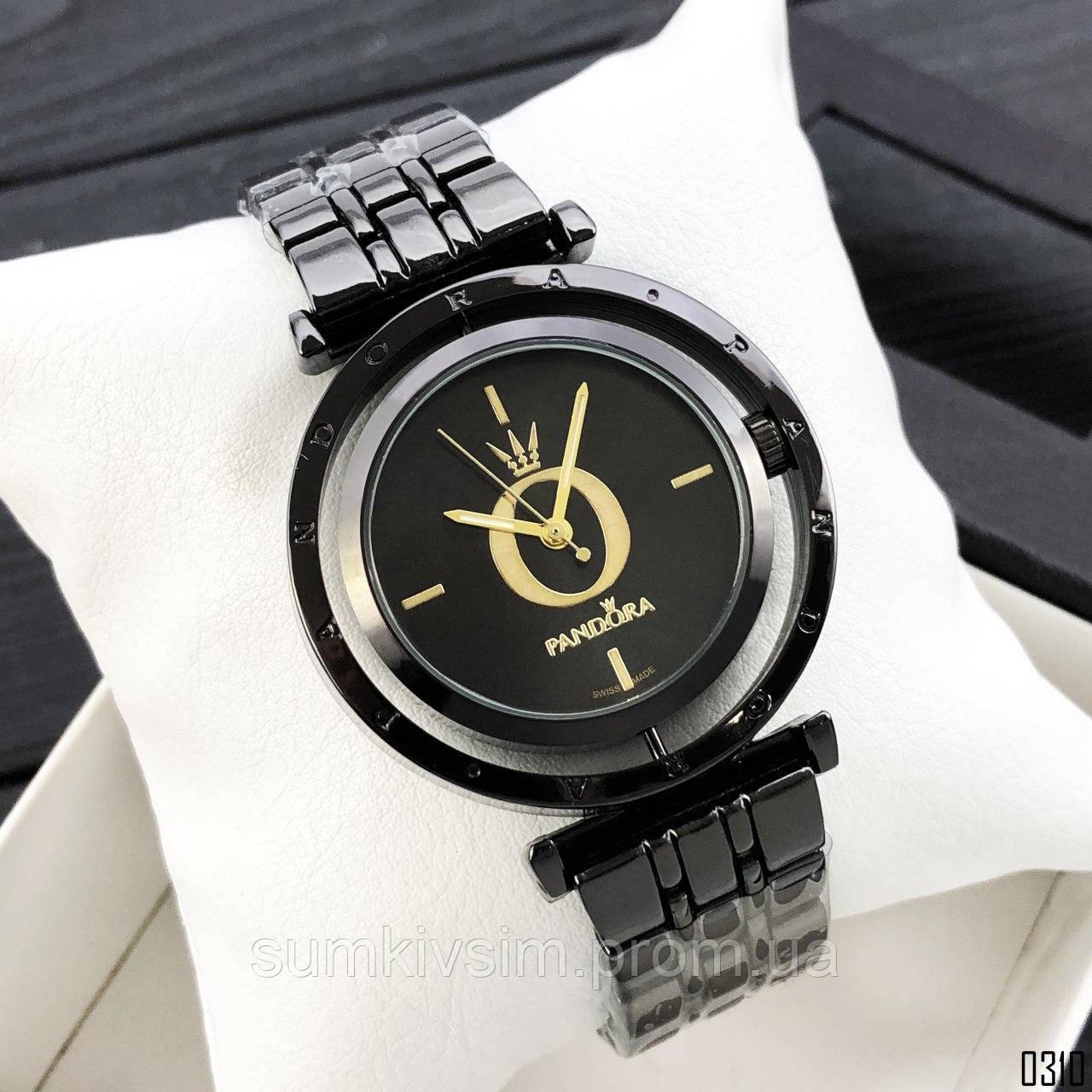 Женские наручные часы Pandora (копиверсия) черного цвета