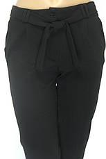 Жіночі чорні вкорочені брюки з високою талією, фото 3