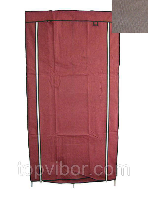 🔝 Портативный шкаф, HCX Storage Wardrobe 8890, складной, каркасный, цвет - коричневый   🎁%🚚