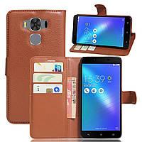 Чехол-книжка Litchie Wallet для Asus Zenfone 3 Max ZC553KL Коричневый
