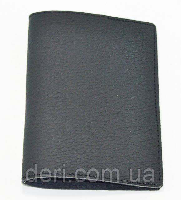 Обложка для паспорта, черный матовый