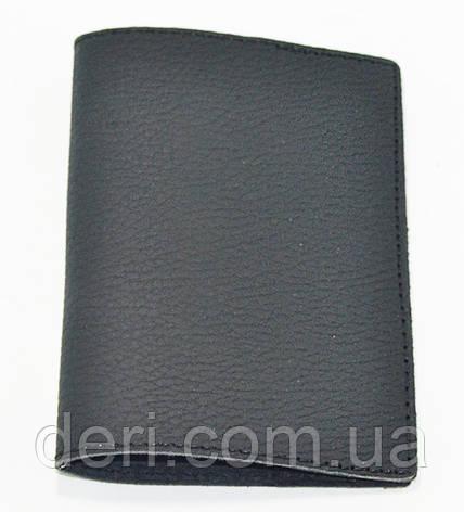 Обложка для паспорта, черный матовый, фото 2