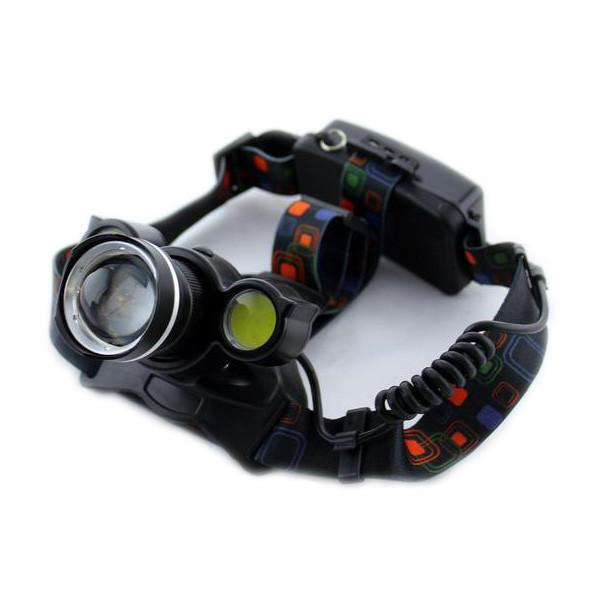 Налобный фонарь, аккумуляторный, Bailong, Police BL-878 T6 COB, универсальный
