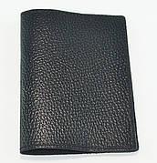 Обложка для паспорта, черная глянцевая
