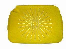 🔝 Коврик-дуршлаг для раковины, пластмассовый, цвет - желтый | 🎁%🚚