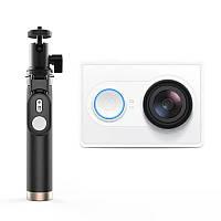 Экшн-камера Xiaomi Yi Action Camera EU Version+ Yi Selfie Stick Белый