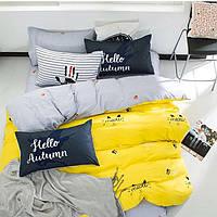 Комплект постельного белья Наша Швейка Бязь В Осенний декор Семейный ( 5 предметов )