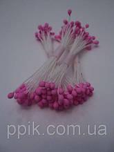 Розовые круглые тычинки