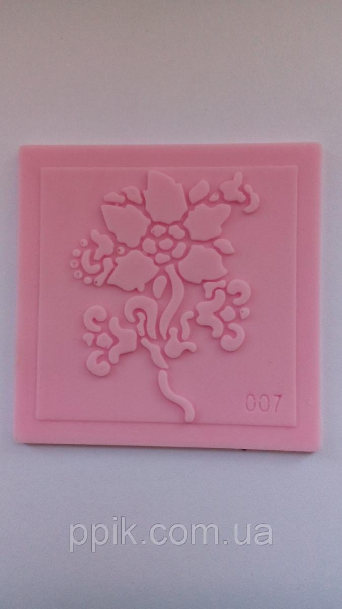 Молд-штамп для айсинга и мастики Цветок 2