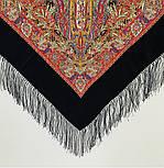 Жасмин 1176-18, павлопосадский платок (шаль, крепдешин) шелковый с шелковой бахромой, фото 2