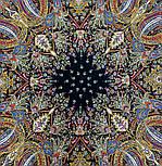 Жасмин 1176-18, павлопосадский платок (шаль, крепдешин) шелковый с шелковой бахромой, фото 4