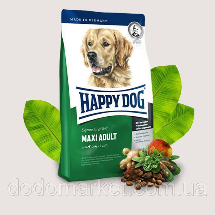 Сухой корм для собак Happy Dog Supreme Maxi Adult 17 кг (15 кг +2,5 кг)