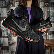 Кроссовки женские 16002, Nike Zoom Pegasus, черные ( 36 37 38  ), фото 6