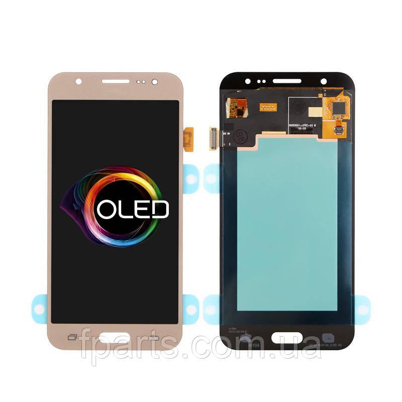 Дисплей для Samsung J500 Galaxy J5 с тачскрином, Gold (OLED)
